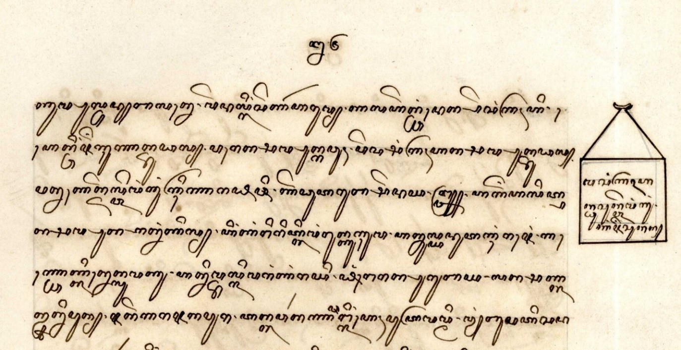 Cod.Or. 27.089. Manuscript with a short indication of the contents of the part of the text it accompanies.