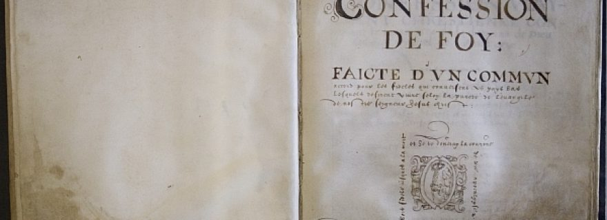 The 'Confession de foy' of the Walloon churches in the United Provinces of 1580