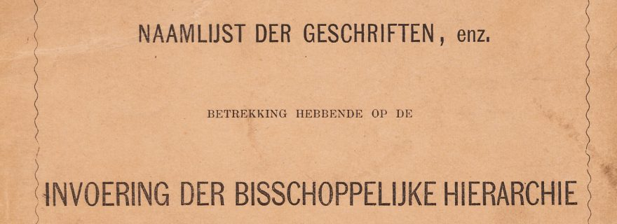 A young minister's special collection. Hendrik Ludwijn de Voogt's (1840-1870) pamphlet collection