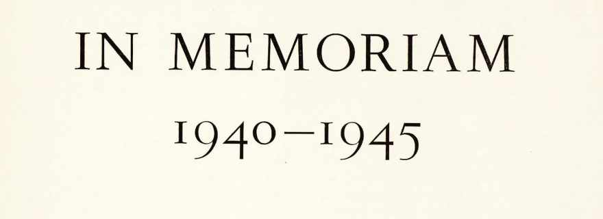 In Memoriam 1940–1945: Remembering the Victims of the Second World War at Leiden University