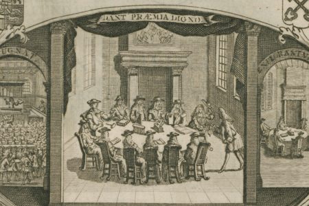 A Picture of a 1721 PhD Ceremony at Leiden University