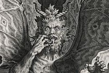 Dante's Inferno: the three-headed monster Lucifer
